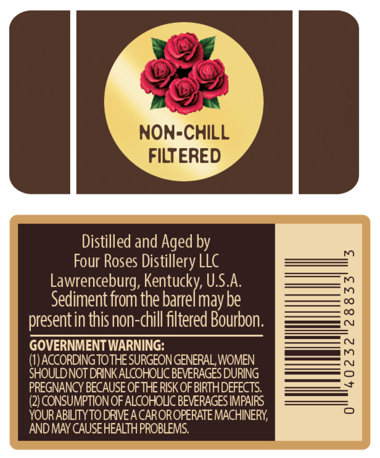 Small Batch Select Label, Back